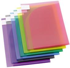 Sachet de 12 pochettes de présentation TCollection PP 20/100e A4/A3 coloris assortis