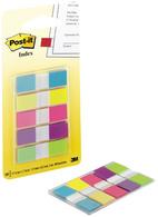 5 blocs de 20 marque-pages étroits coloris assortis classiques