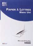 Bloc correspondance de 50 feuilles. Papier ligné velin 80 grammes 210x297 mm