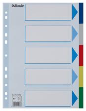 Intercalaires en plastique, uni, A4, PP,10 touches