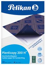 Pochette de 10 films bleues carbone A4 Plenticopy pour écriture main, dos ciré