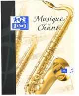 Cahier de musique, 170 x 220 mm, séyès, 48 pages
