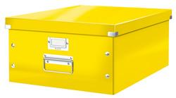 Boîte de rangement Click & Store WOW, A3, jaune