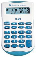 Calculatrice de poche 8 chiffres TI-501