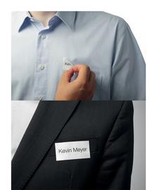 Boîte 240 Badges adhésifs Badgefix en tissu imprimables - H40 x L75 mm