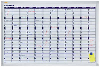 Tableau planning X-tra!Line calendrier, 900 x 600 mm