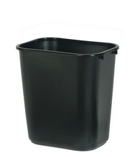 Corbeille à papier, 26,6 litres, PE, noir