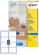 Boite de 25 étiquettes jet d'encre format 199,6x289,1mm