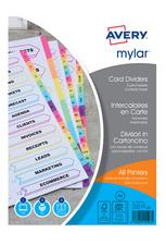 Intercalaires Mylar, carte, 12 touches mensuelles, A4