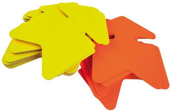 Paquet de 10 cartons fluo effaçable à sec jaune/orange forme éclaté 16 x 24 cm