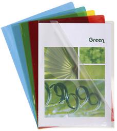 Sachet de 50 pochettes coin PVC lisse haute résistance 13/100e - A4