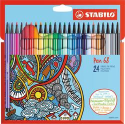 Feutre Pen 68, étui en carton de 24