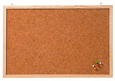 Tableau en liège ´Memoboard´, 800 x 600 mm, marron