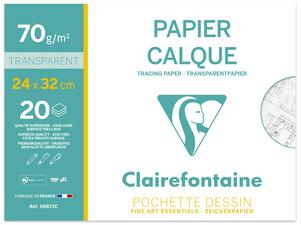 Papier Calque pochette 20F 24x32cm 70/75g