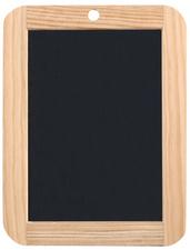 Ardoise en pierre naturelle, (L)180 x (H)260 mm, noir