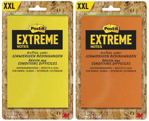 Bloc-note adhésif Extreme Notes 114x171mm, pack de 2