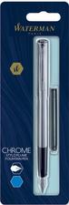 Blister stylo plume GRADUATE chromé + 1 cartouche longue bleue