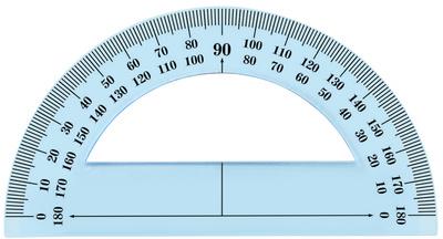 Rapporteur 180 degrés, 120 mm, incassable