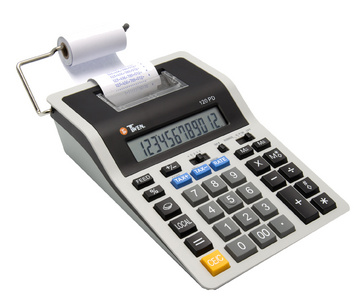 Calculatrice imprimante 120 PD, gris / noir