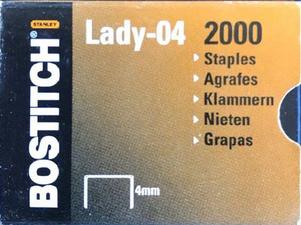 Agrafes Lady-04, 4 mm, galvanisé